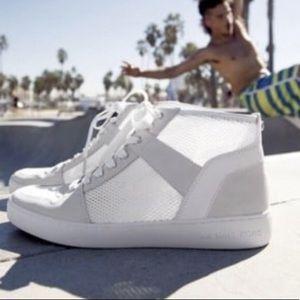 Michael Kors White Matty High Top Sneaker Summer
